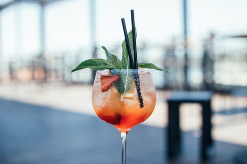 Glass of Cocktail with Mint Leaves