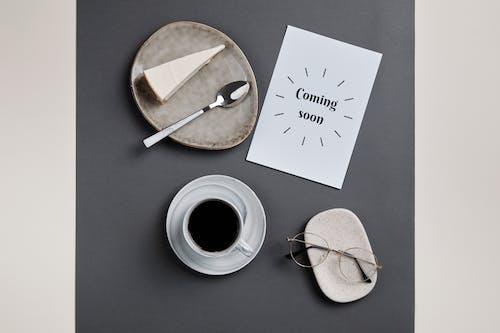Happy Birthday Greeting Card Beside White Ceramic Mug With Coffee