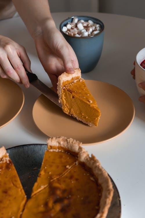 切片, 南瓜派, 烤得好 的 免费素材图片