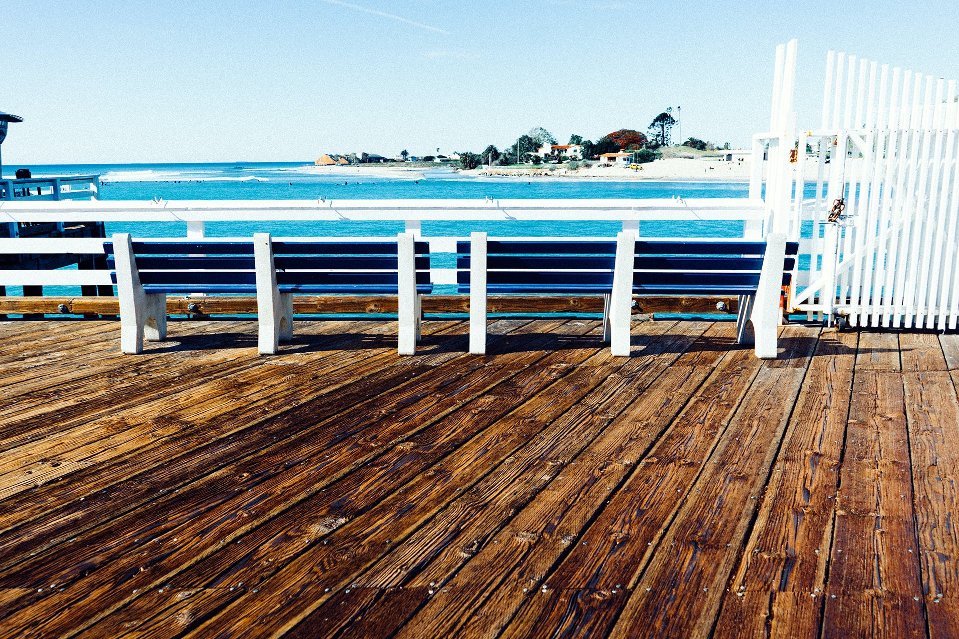 Free stock photo of bench, jetty