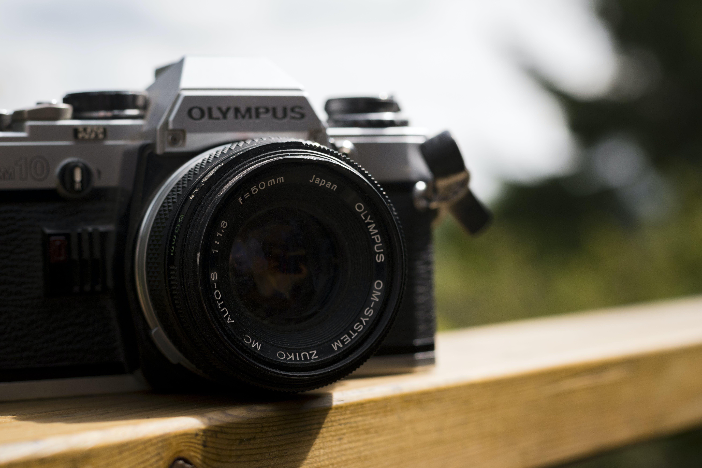 Free stock photo of analog camera, black, camera, camera equipment