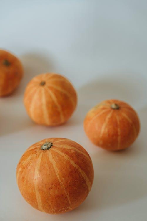 Orange Pumpkin on White Table