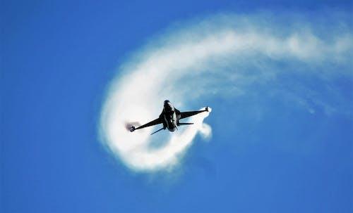 Black Plane in Mid Air
