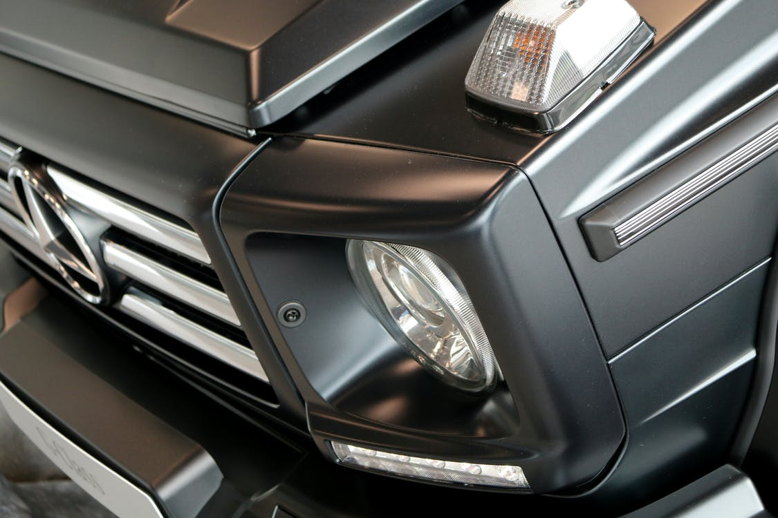Closeup Photo of Black Mercedes-benz Vehicle