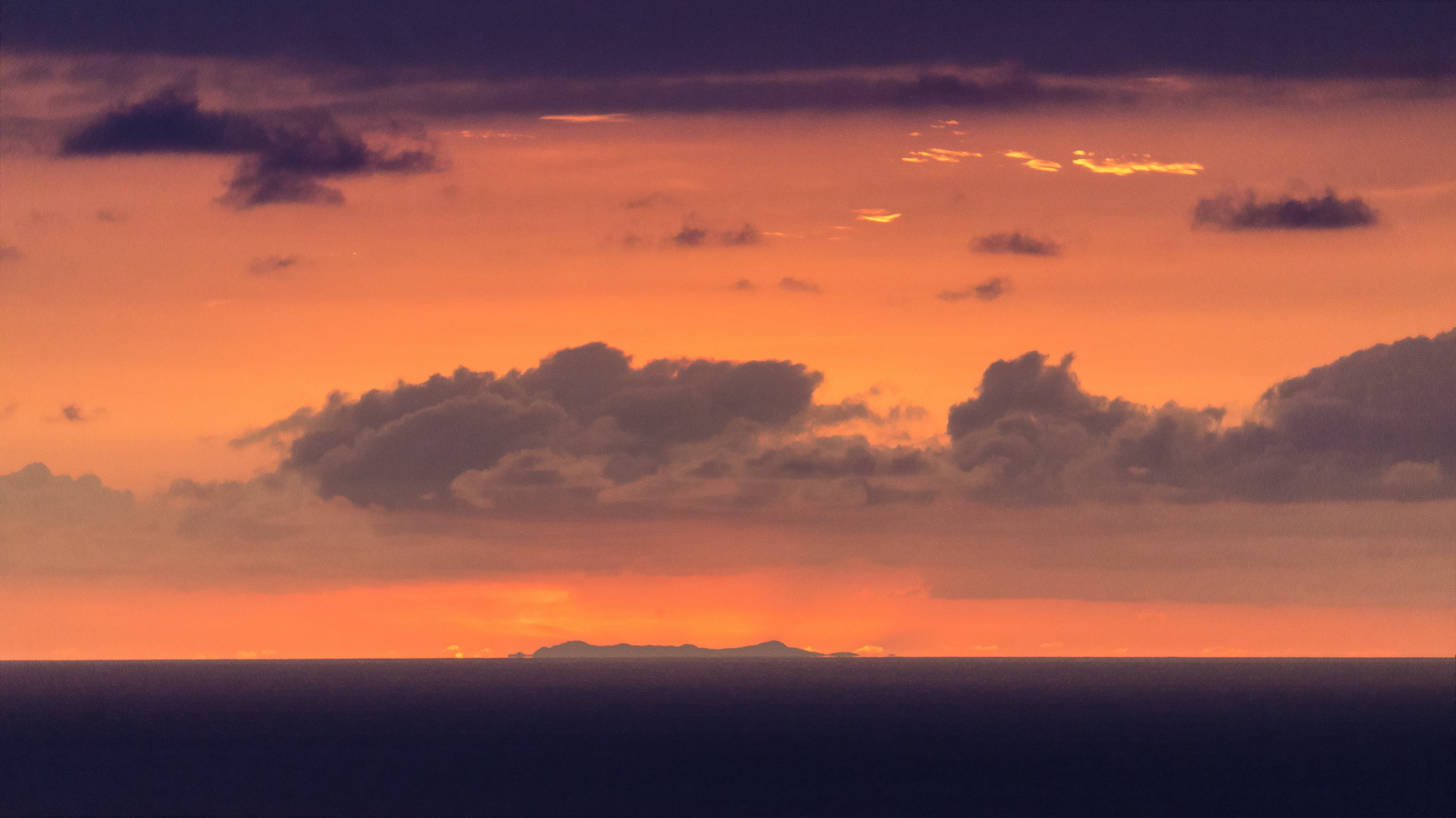 Free stock photo of clouds, dark clouds, distant, golden sunset