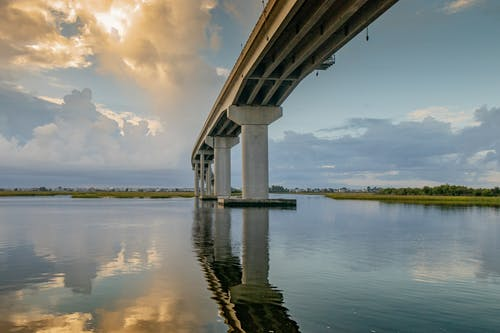 Free stock photo of blue water, bridge