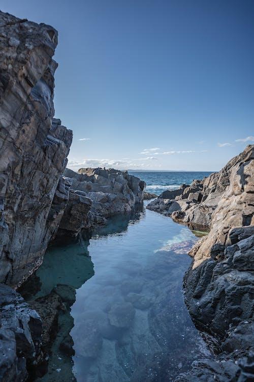 Rocky Mountain Beside Body of Water