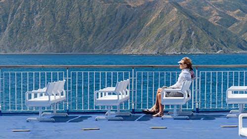 Free stock photo of aratere, car ferry, coastline