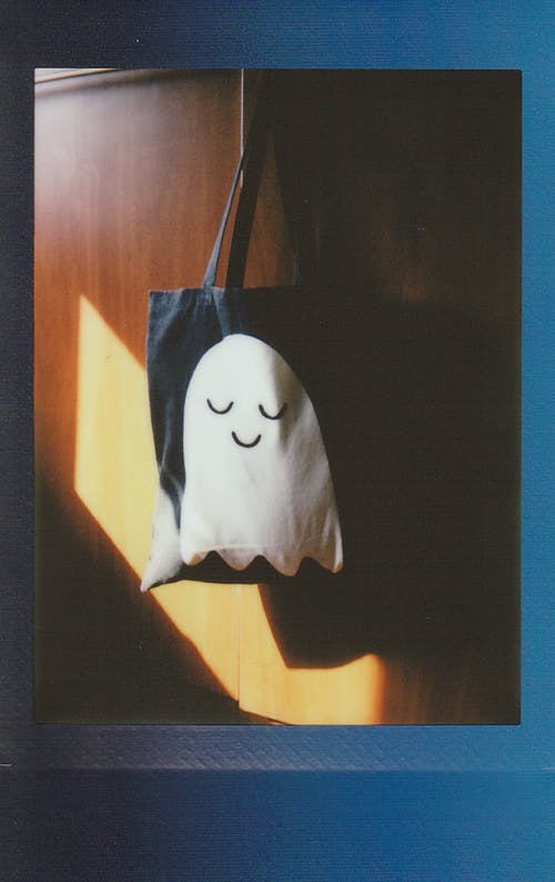 Halloween Tote Bag with Ghost