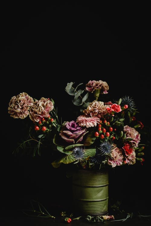 Colorful Flowers in a Vase
