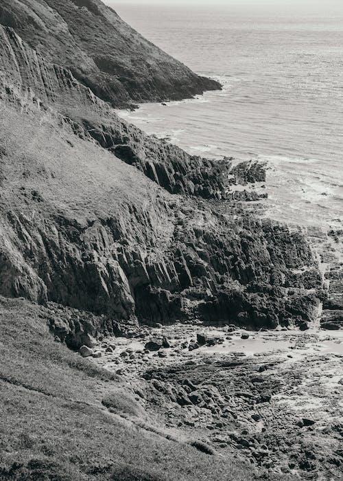 Δωρεάν στοκ φωτογραφιών με aqua, bw, ακτή, ανώμαλος