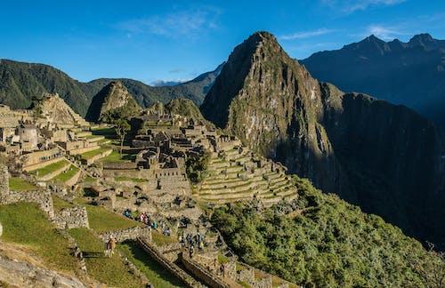People Traveling at Machu Picchu