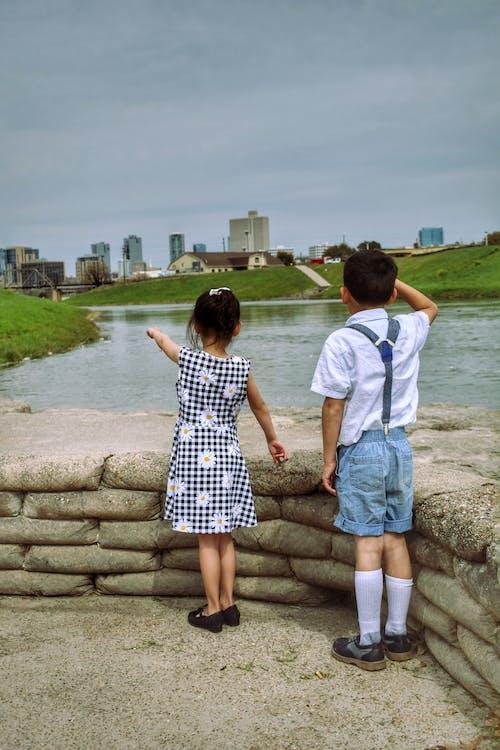 Free stock photo of children, children playing, city