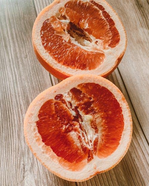 A Close-Up Shot of a Sliced Grapefruit