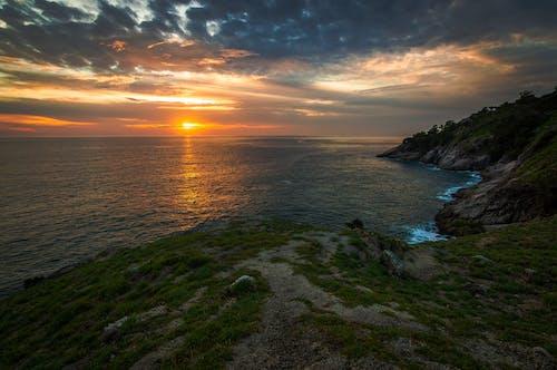 Peaceful Ocean During Sunset