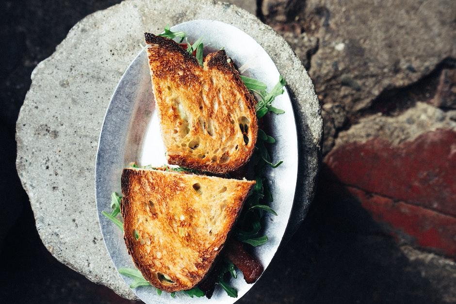 bread, food, plate