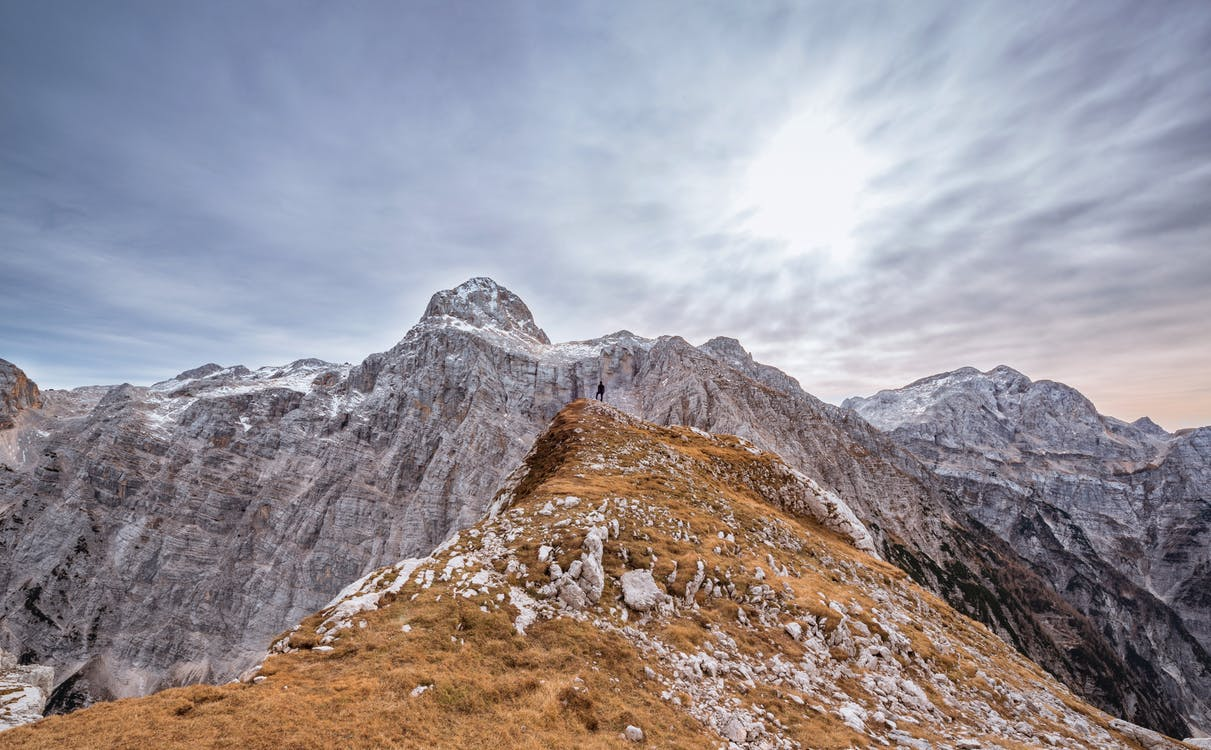alperne, bjerg, bjergtinde