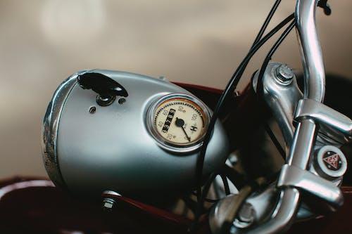 Black Motorcycle Speedometer at 0