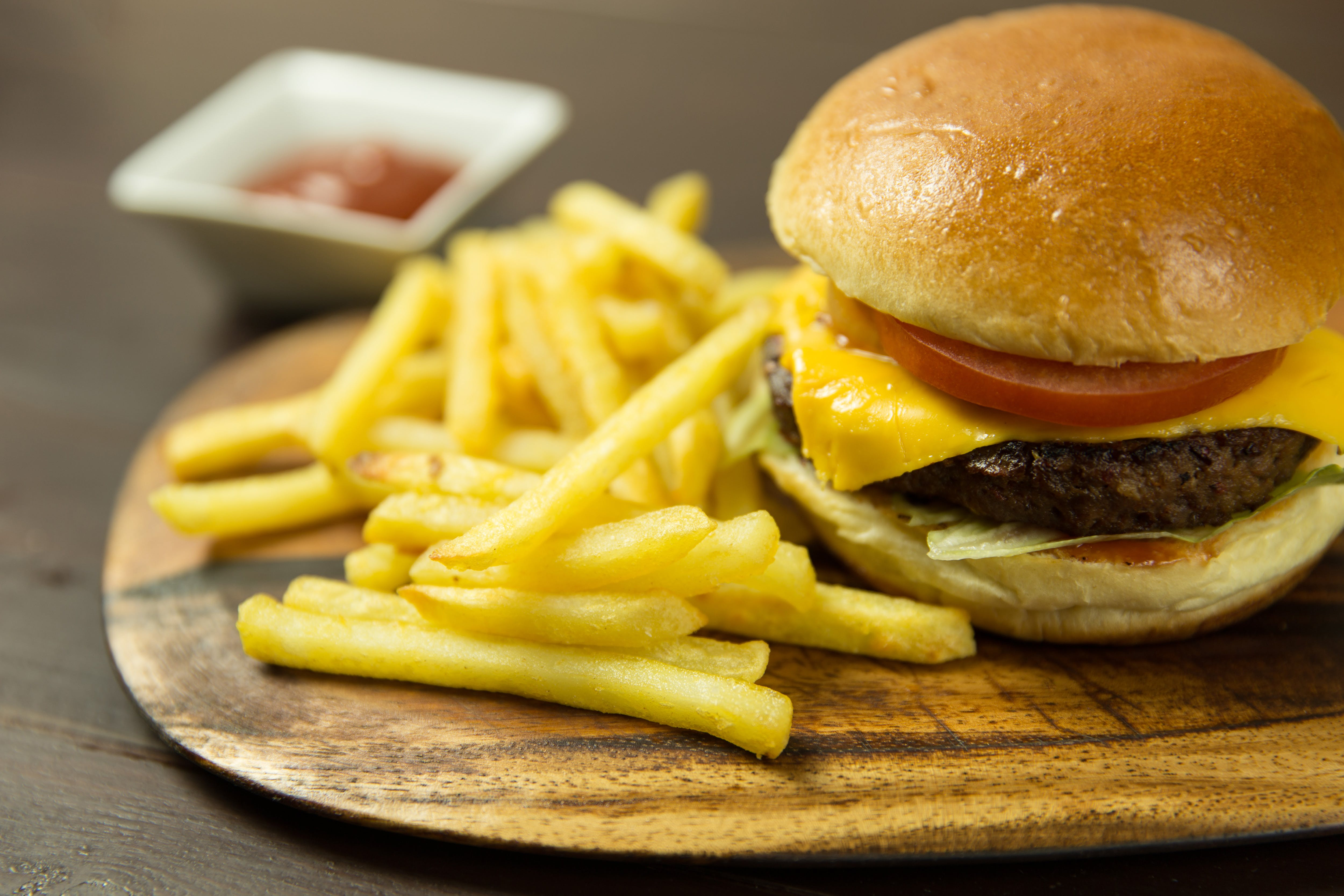 Btl Burger With Fries