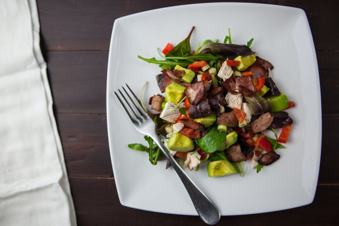 Vegetable Salad on Ceramic Plate