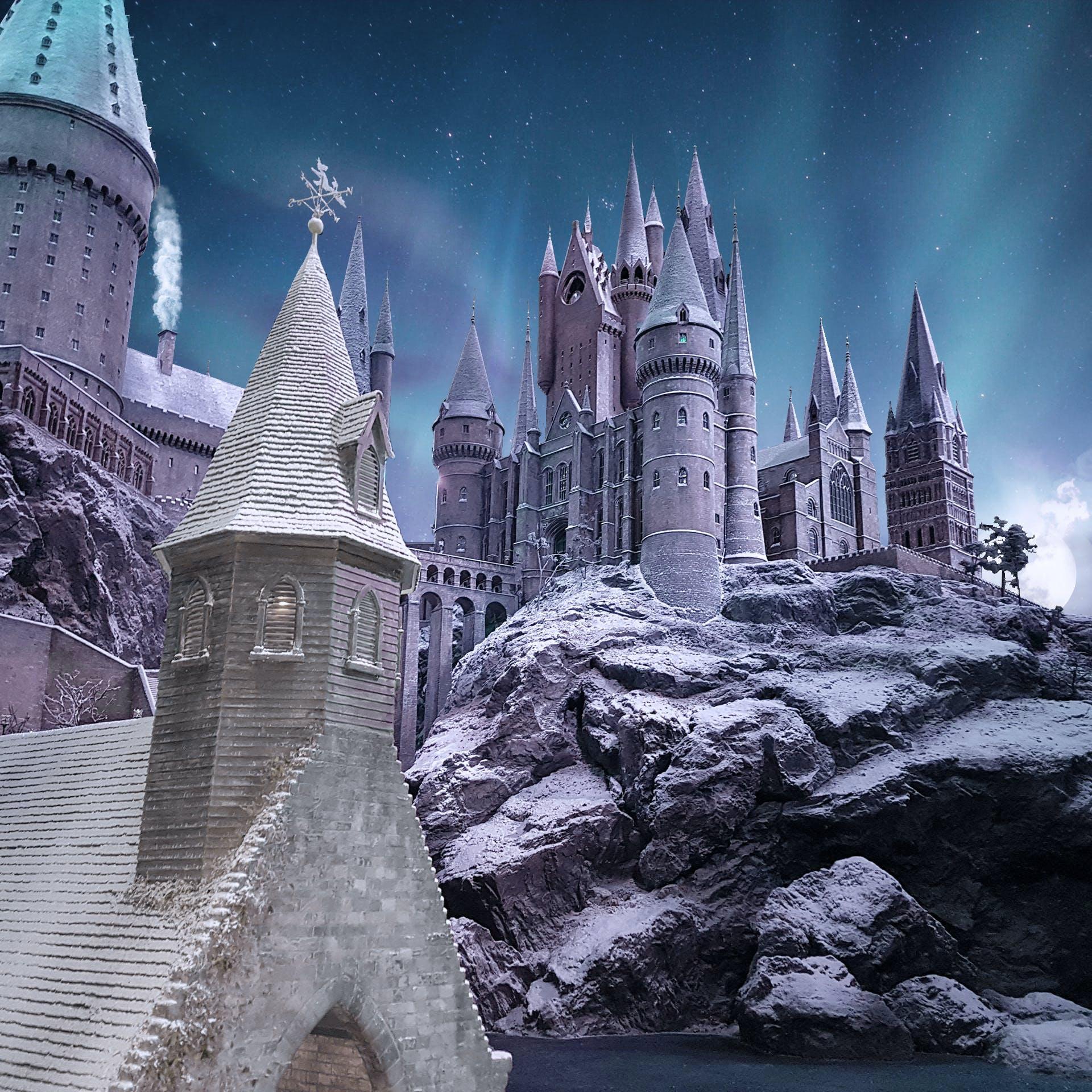 Free stock photo of castle, harry potter, lens, lights