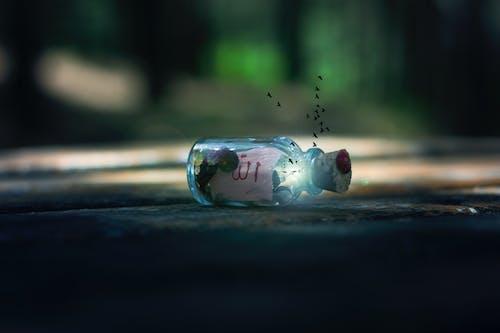 ぼかし, ガラス, コルクふた, フォーカスの無料の写真素材