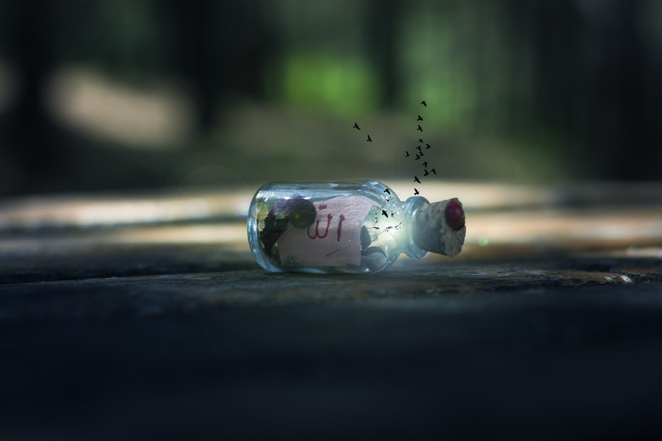 blur, bottle, close-up