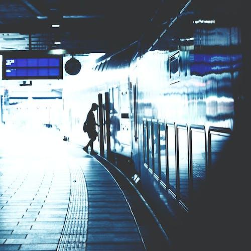 Free stock photo of against the light, dark, light, metro