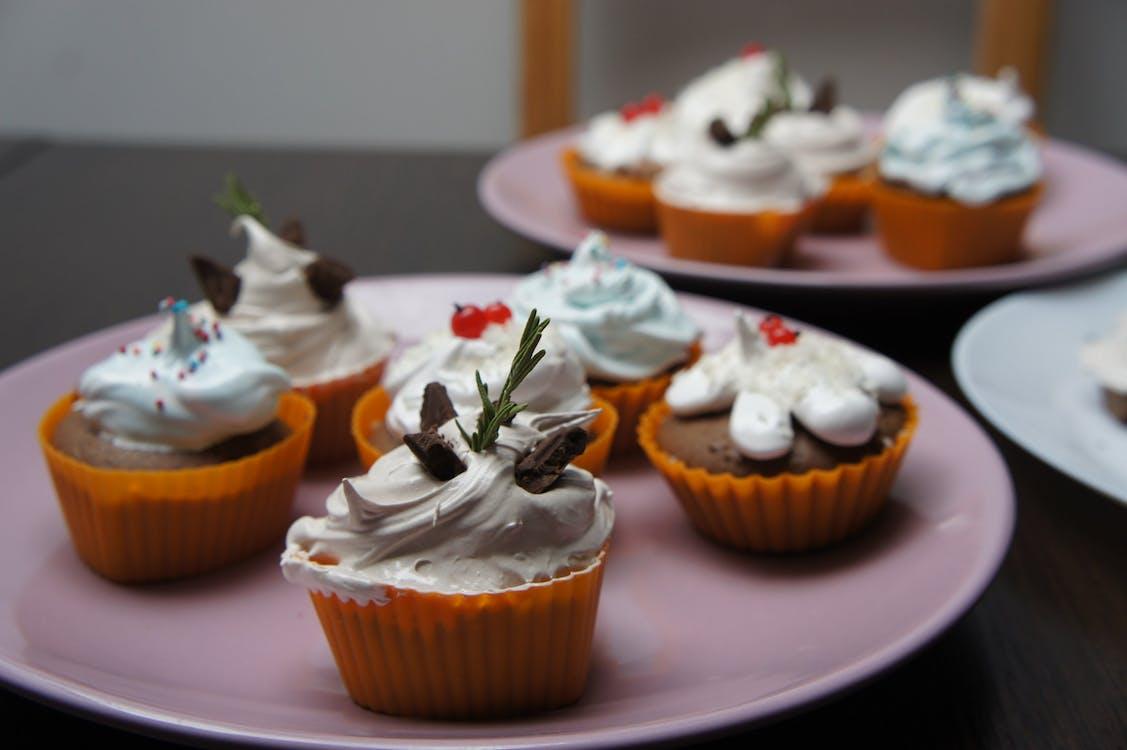 cremig, cupcakes, essen