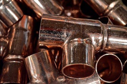 Free stock photo of copper, copper fittings, copper pipe