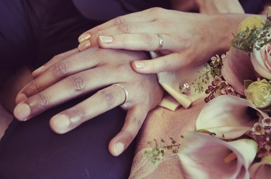 Free stock photo of couple, hands, love, flowers