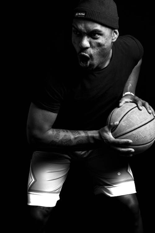 Základová fotografie zdarma na téma basketbal, basketbalista, cvičení, dobře vypadající