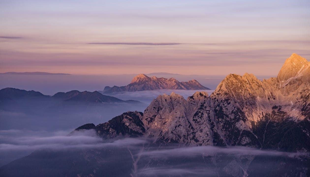 dagslys, fjell, fjelltopp