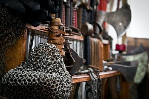 Free stock photo of armor, clothes iron, glow