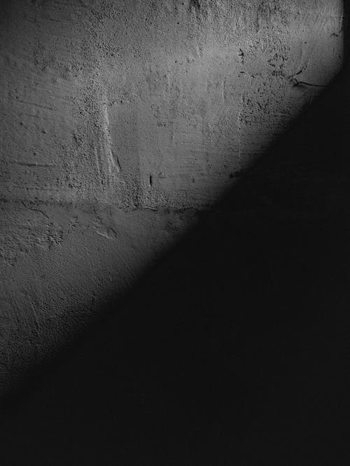 Black Shadow on White Wall