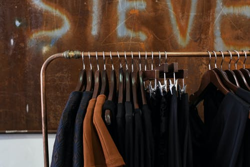 Black and Brown Clothes Hanger