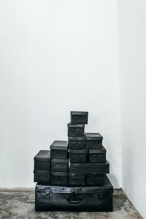 Black Box on White Wall