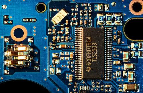 Free stock photo of blue, circuit, circuit board