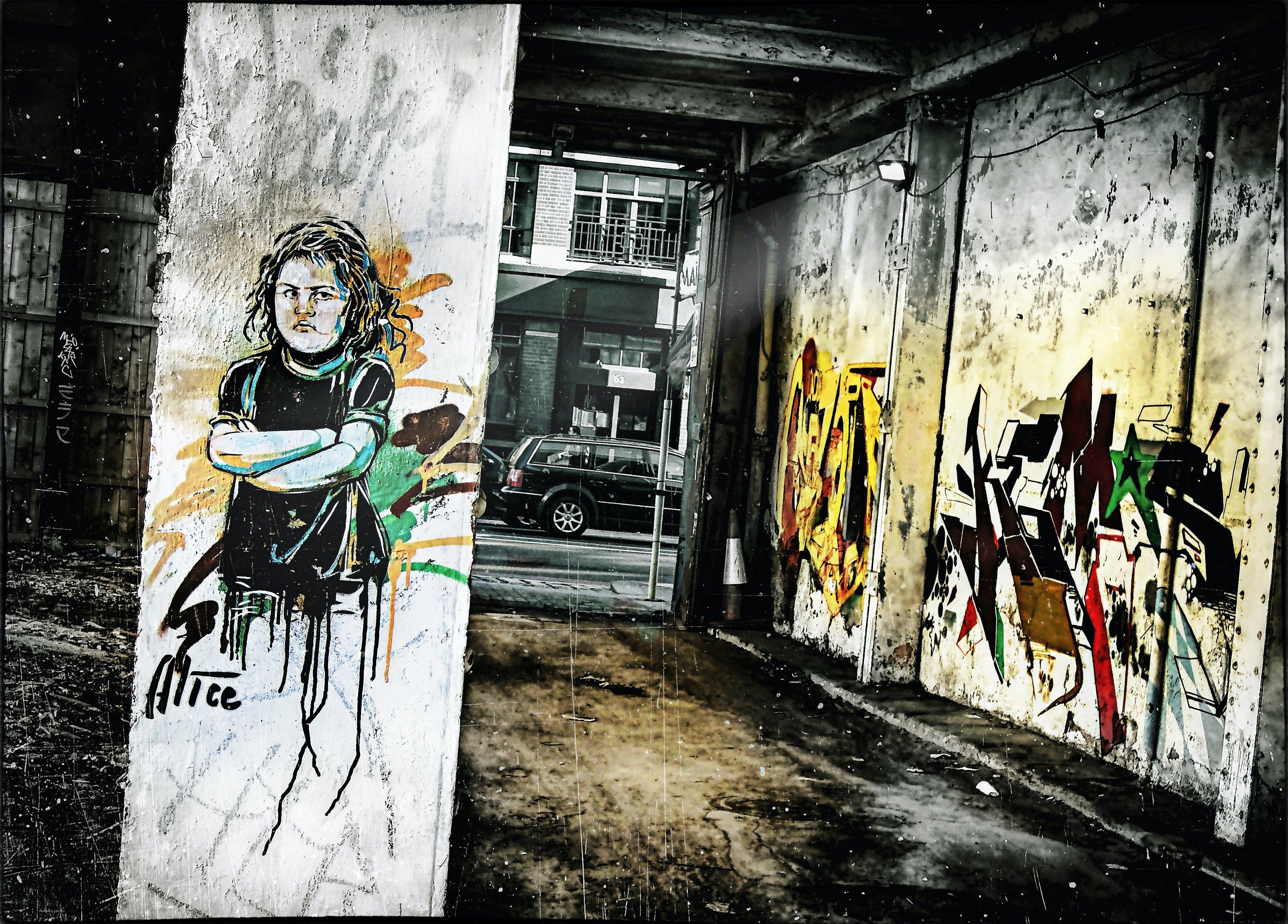 Δωρεάν στοκ φωτογραφιών με street art, ανατολικό λονδίνο, αστικός, τείχος