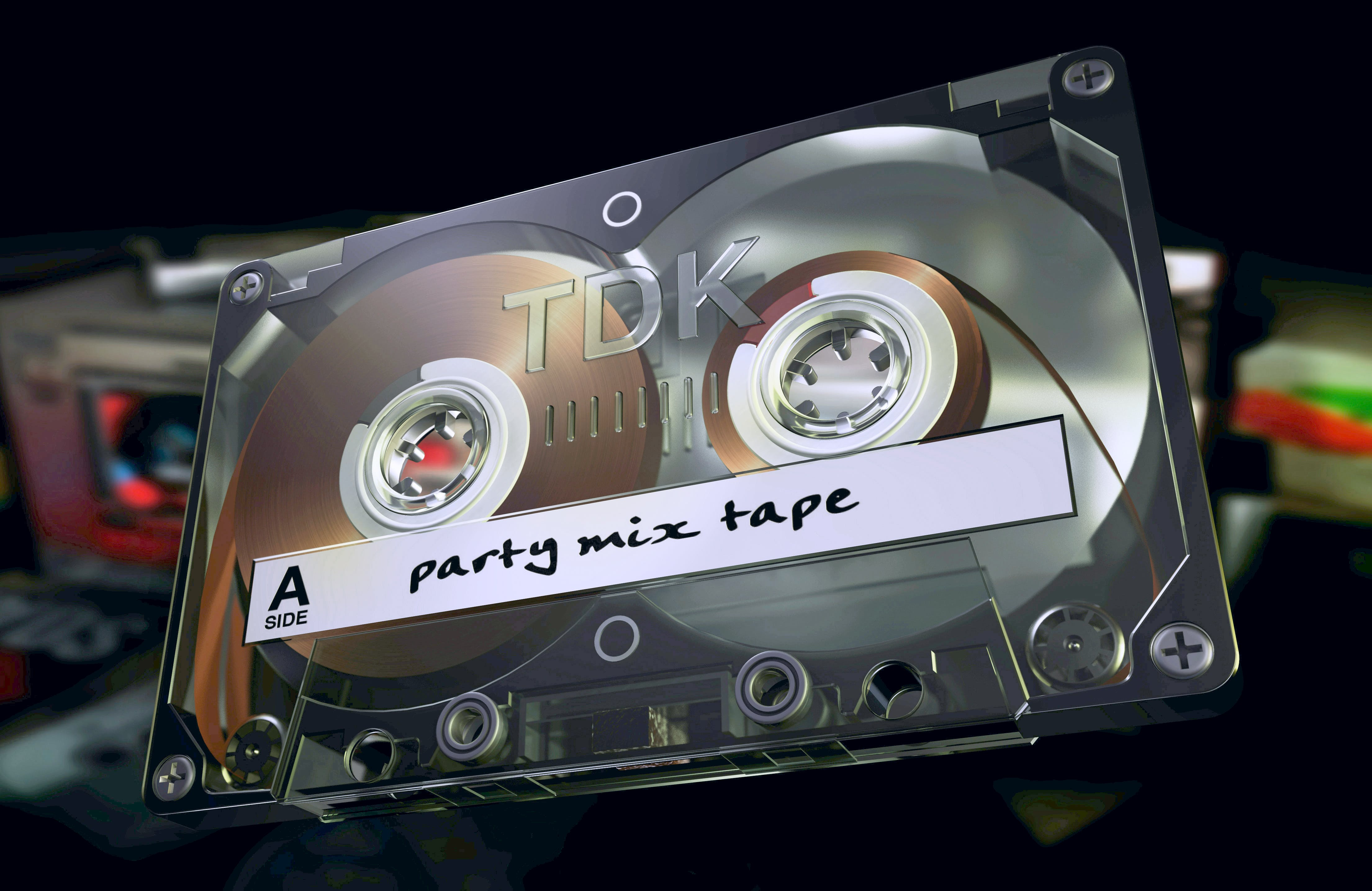 Free stock photo of 3d, cassette, illustration, Party Mix Tape