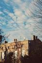 sky, blue, building