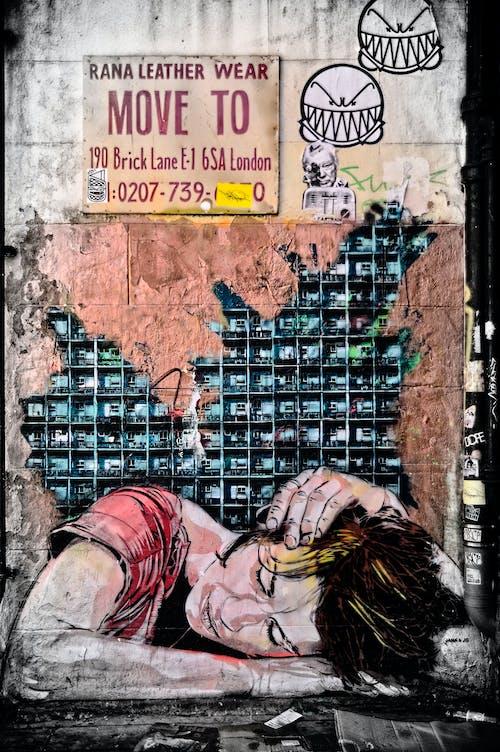 Free stock photo of art, east, london, street