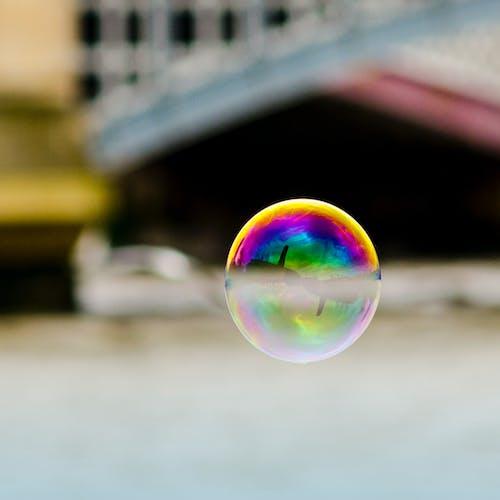 Free stock photo of bubble, floating, london, reflection