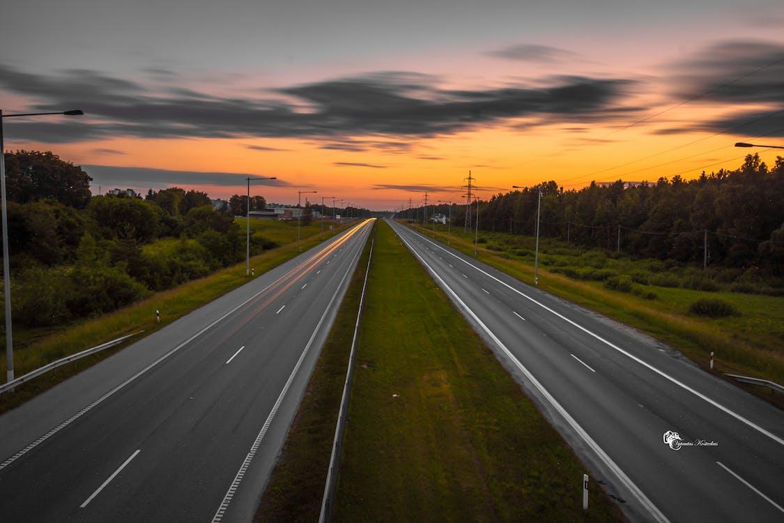 Free stock photo of evening, evening sky, freeway