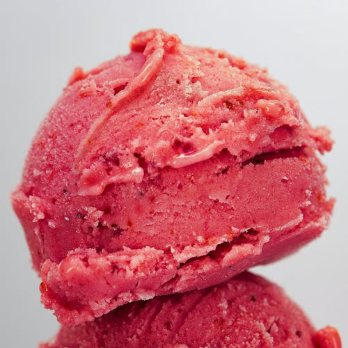A Close-Up Shot of a Scooped Ice Cream