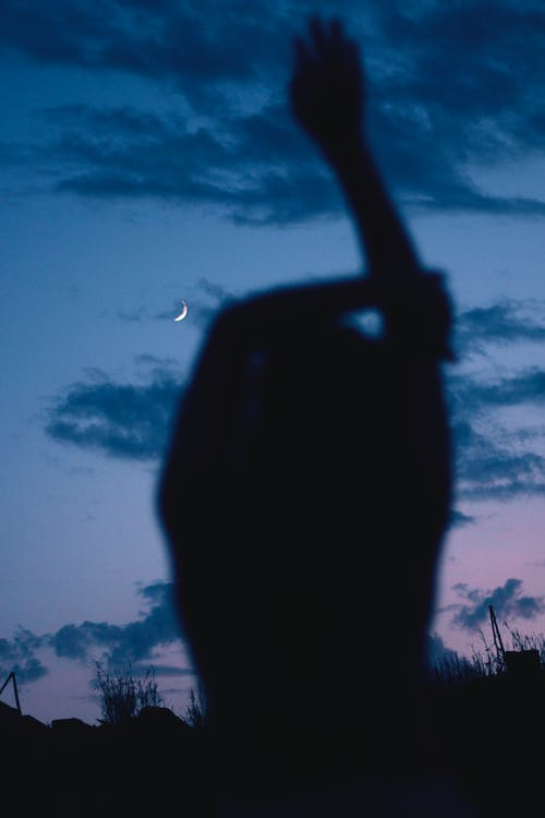 Základová fotografie zdarma na téma měsíc, měsíční pozadí, modrá obloha