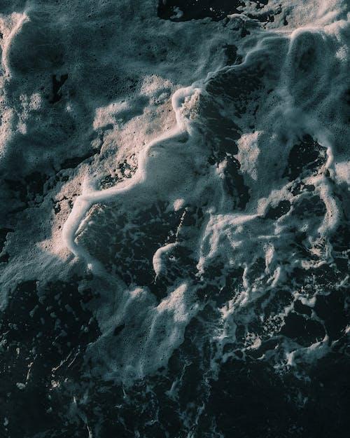 Birds Eye View of Blue Ocean Water