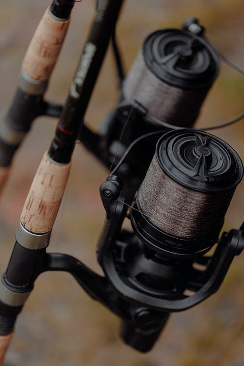 Black and Brown Fishing Rod