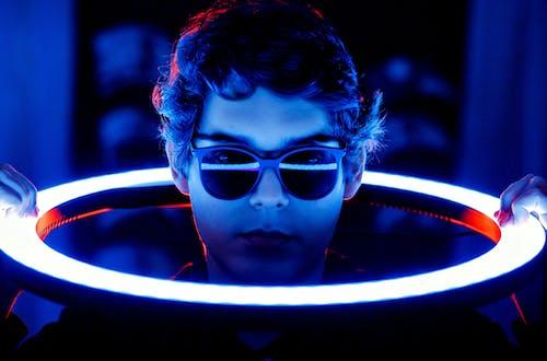 Boy in Black Framed Eyeglasses