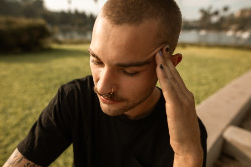 Close Up of a Stressed Man